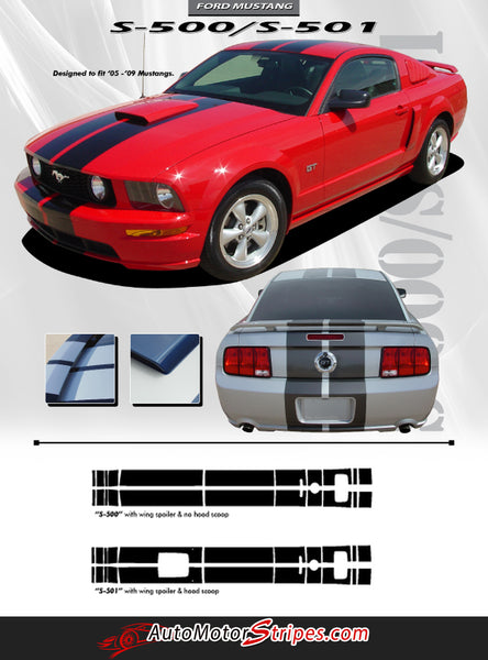 2005-2009 Ford Mustang Decals Hood Racing Stripes S-500 ...