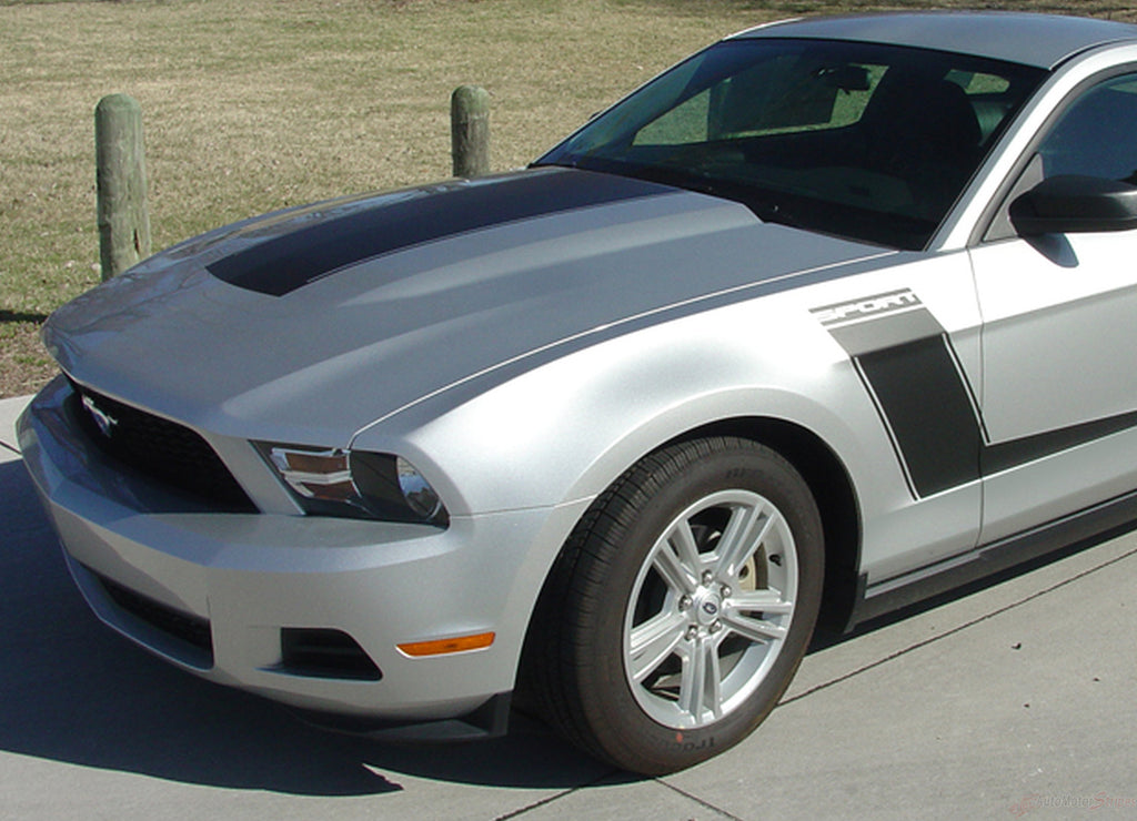2010 - 2012 Ford Mustang Launch Side Hockey Stripes 3M Vinyl Decal Graphics Package