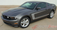 2010 - 2012 Ford Mustang Getaway Side C Boss Style Stripe 3M Vinyl Graphics - Upper Side View