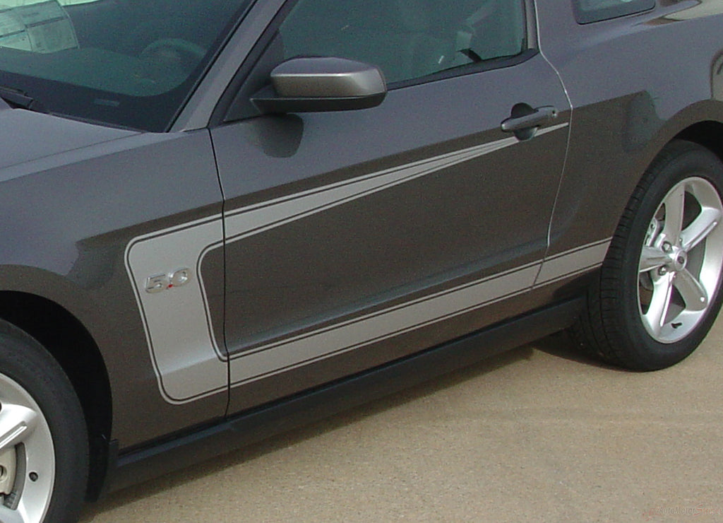 2010 - 2012 Ford Mustang Getaway Side C Boss Style Stripe 3M Vinyl Decal Graphics Package