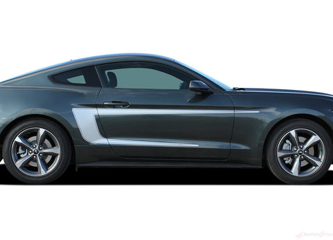 2015 2016 2017 Ford Mustang Reverse C-Stripe Boss 302 Style Side Stripes Vinyl Graphics 3M Decals