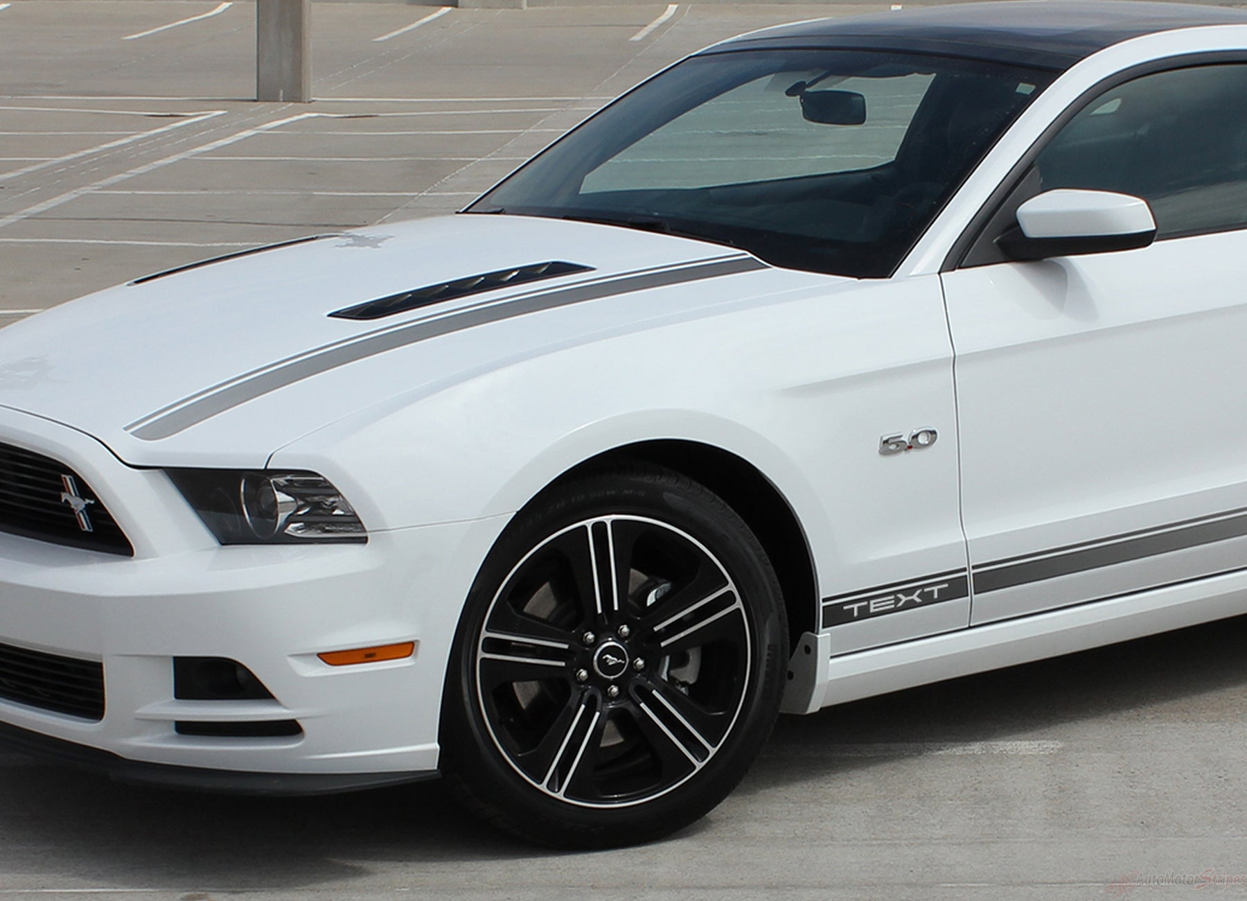 2010 2014 ford mustang cali california special gt cs style rocker and hood factory