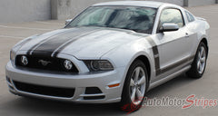 2013 2014 Ford Mustang Prime 1 Boss 302 Style Hood and Side Vinyl Graphics - Driver View