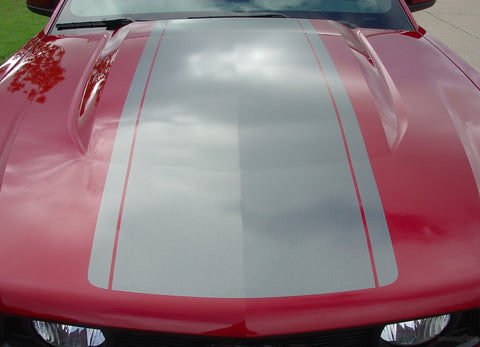 2010 - 2012 Ford Mustang Pony Center Wide Racing Rally Stripes Vinyl Graphics 3M Decals Package