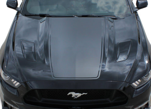2015 2016 2017 Ford Mustang Super Snake Mega Hood Mohawk Center Wide Racing Rally Stripes Vinyl Graphics 3M Decal