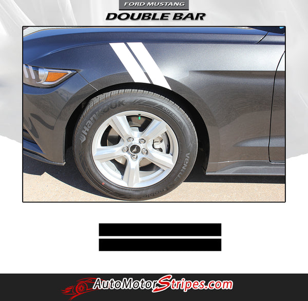 2015 2017 Ford Mustang Decals Hood Fender Stripes Double