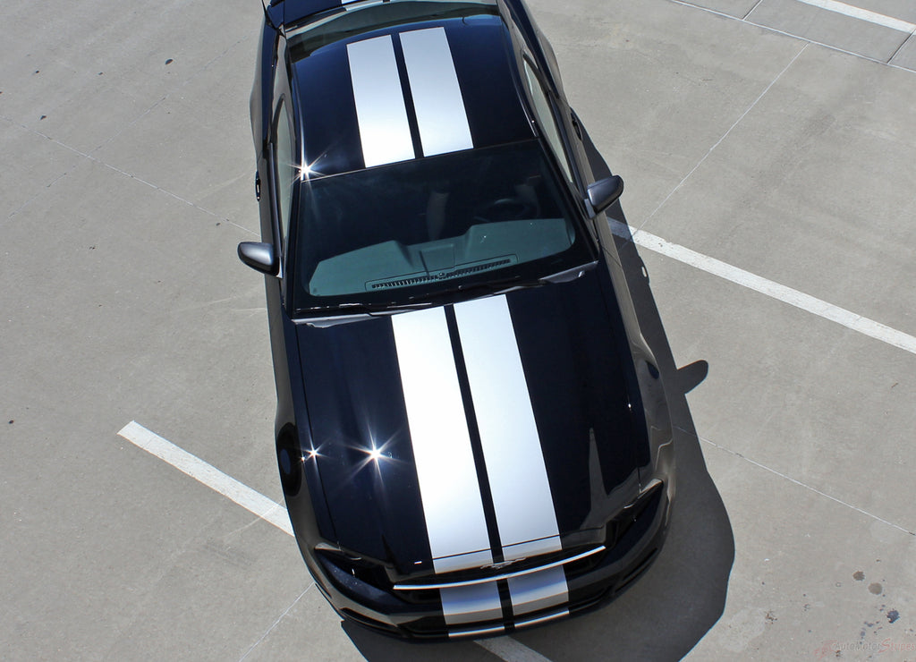 2013 2014 Ford Mustang Thunder Lemans Style 10 Inch Racing Rally Stripes Vinyl Graphics 3M Decals