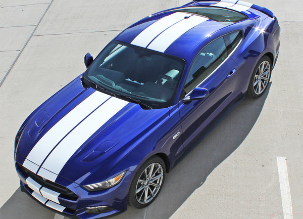 2015 2017 Ford Mustang Racing Stripes Hood Decals Stallion