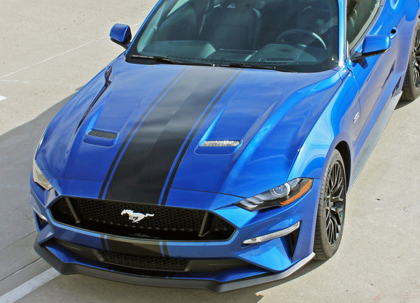 2018 2019 Ford Mustang Racing Stripes | Hood Decals ...