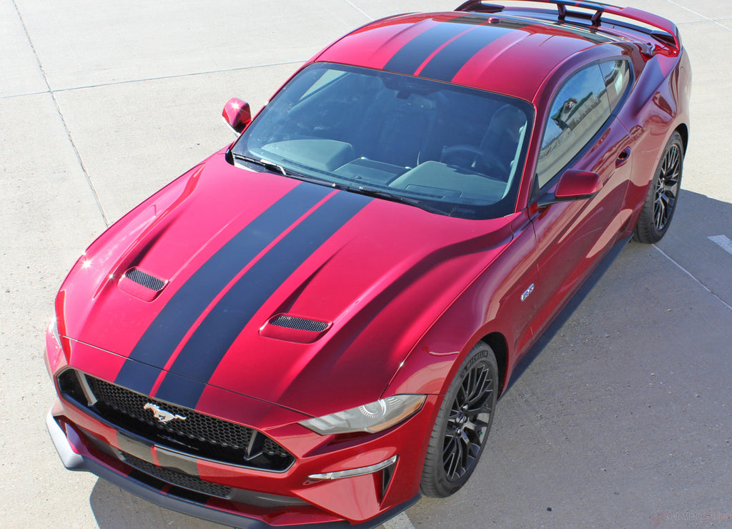"2018 2019 2020 2021 Ford Mustang Racing Stripes Stage Rally Stripes 7"" Inch Wide Vinyl Graphics 3M Decals"