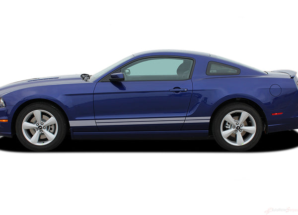 2013 2014 Ford Mustang Stripes Lower Door Decals THUNDER ...