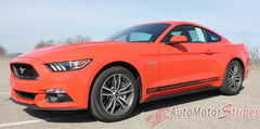 2015 2016 2017 Ford Mustang Breakup Rocker Lower Rocker Stripes Vinyl Decal Graphics - Driver View