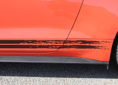2015 2016 2017 Ford Mustang Breakup Rocker Lower Rocker Stripes Vinyl Decal Graphics