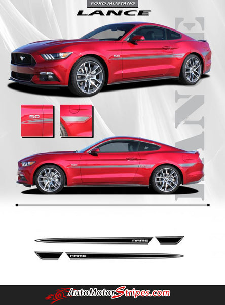 2015 2017 Ford Mustang Decals Side Door Stripes Lance