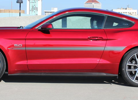 2015 2016 2017 Ford Mustang Lance Side Spike Spears Stripes Vinyl Graphics 3M Decals
