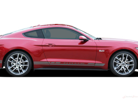 2015 2016 2017 Ford Mustang Haste Rocker Factory OEM Style Lower Rocker Stripes 3M Vinyl Graphics Decals