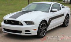2013 2014 Ford Mustang Flight Hockey Style Vinyl Graphics 3M Decals - Hood and Side View