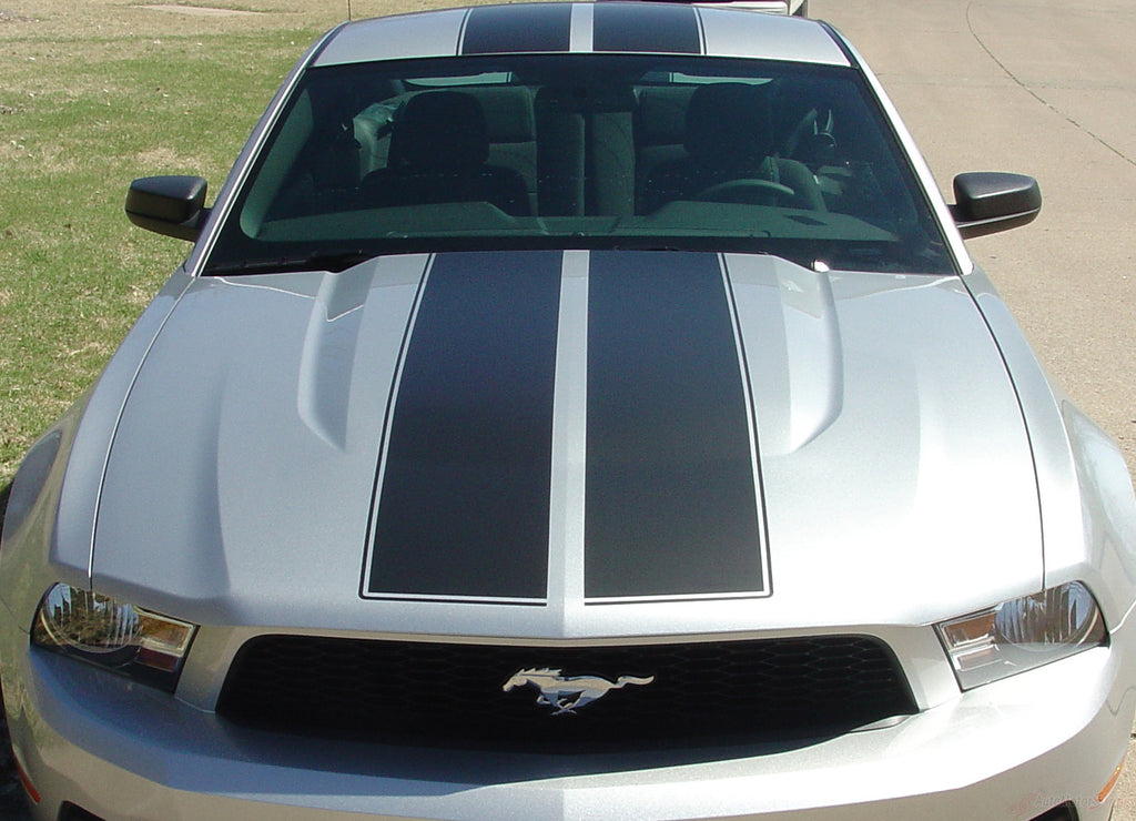 2010 - 2012 Ford Mustang Wildstang Racing and Rally Stripes 3M Vinyl Decal Graphics