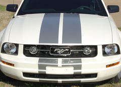 "2005 - 2009 Ford Mustang SV-6 V6 Racing and Lemans 10"" Rally Stripes Vinyl Graphics 3M Decals"