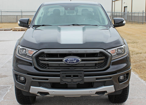 Ford Ranger Hood Decals VIM HOOD Center Hood Stripes Vinyl Graphics Decals Kit 2019 2020