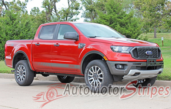 2019 Ford Ranger Stripes Lower Door Decals NOMAD Vinyl Graphics | Auto Motor Stripes Decals ...