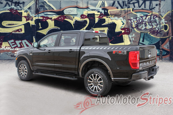 2019 Ford Ranger Stripes Side Door Decals UPROAR Vinyl ...