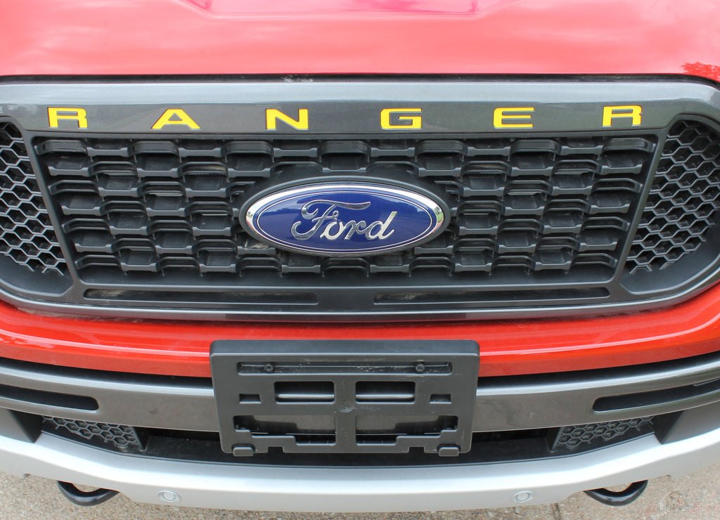Ford Ranger GRILL LETTERS Decals Name Text Vinyl Graphics Kit fits 2019 2020 2021