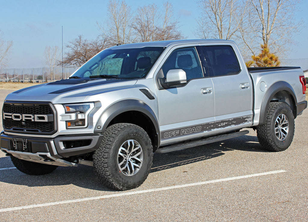 Ford Raptor Body Decals VELOCITOR ROCKER Lower Door Stripes Vinyl Graphics Decals Kit 2018 2019 2020