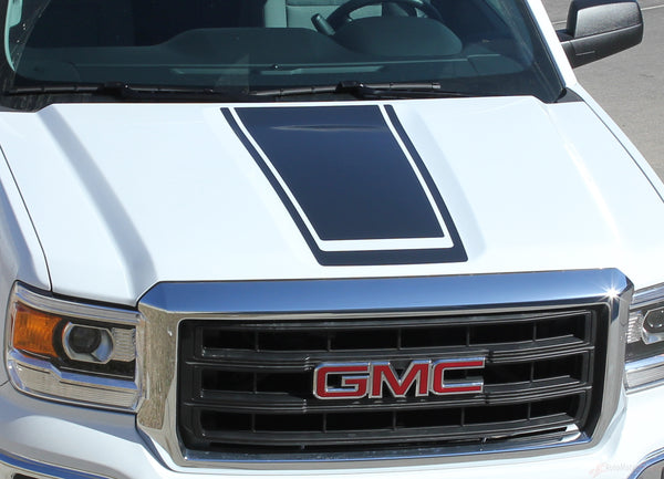 2014 2018 Gmc Sierra Midway Stripe Center Hood Decal Vinyl