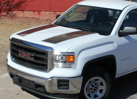 2014-2016 2017 2018 GMC Sierra Rally OE Factory Style Edition Truck Hood Tailgate Racing Vinyl Graphics Stripes Kit