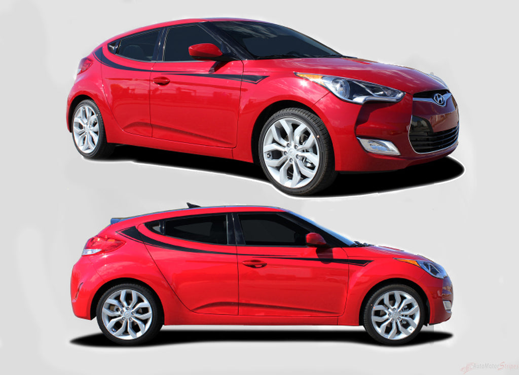 2011-2017 Hyundai Veloster Relay Upper Side Accent Door Panel Vinyl Graphics 3M Striping Decals