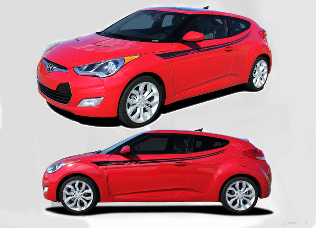 2011-2018 Hyundai Veloster Rush Upper Body Accent Door Panel Vinyl Graphics 3M Striping Decals