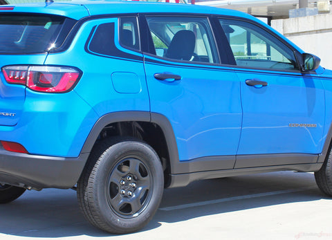 2017-2019 Jeep Compass Stripes Vinyl Graphics Decals Mid Body Line Accent 3M Altitude
