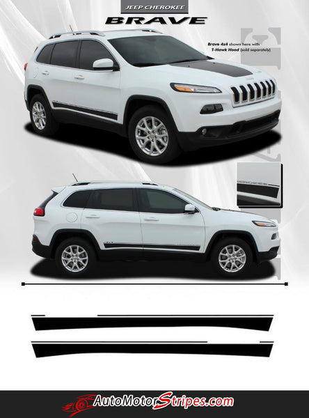 2014 2019 Jeep Cherokee Stripes Brave Lower Rocker Panel