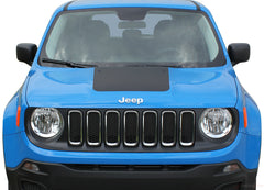 2014-2020 2021 Jeep Renegade Factory OEM Style Hood Center Blackout Vinyl Decal Graphic 3M Striping