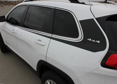 2014 - 2017 Jeep Cherokee Warrior Upper Body Accent Door Vinyl Graphic 3M Striping Decals
