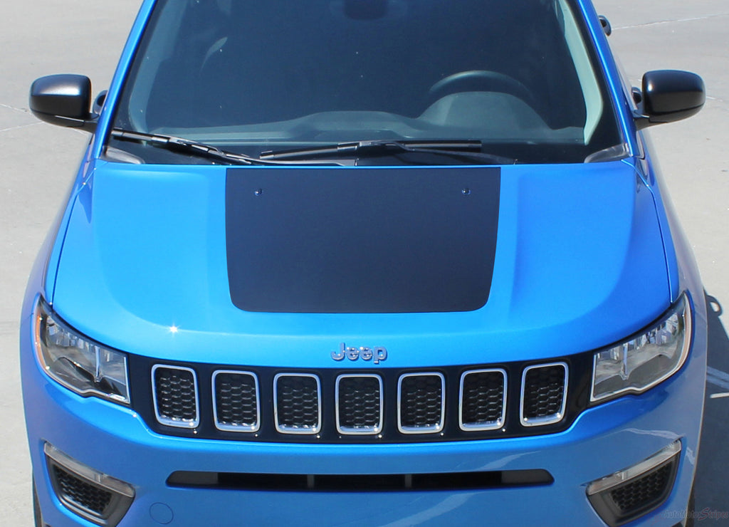 2017-2018 Jeep Compass Hood Stripes Vinyl Graphics Decals Accent 3M Bearing