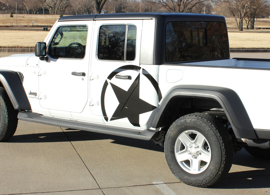 2020 2021 Jeep Gladiator Alpha Side Star Decal OEM Factory Style Body Vinyl Graphic Stripes Kit