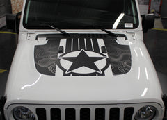 2020 Jeep Gladiator Star Hood Decal JOURNEY DIGITAL Hood Vinyl Graphic Stripes Kit