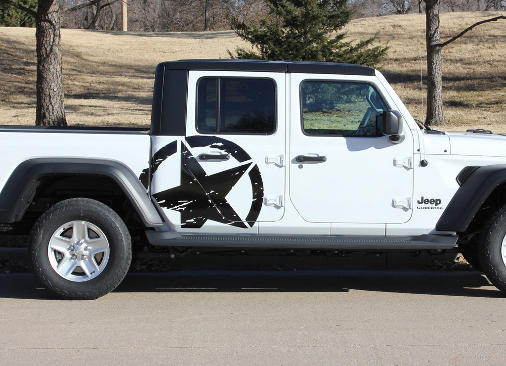 2020 Jeep Gladiator Legend Side Star Decal OEM Factory Style Body Vinyl Graphic Stripes Kit