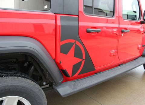 2020 Jeep Gladiator Omega Side Star Decal OEM Factory Style Body Vinyl Graphic Stripes Kit