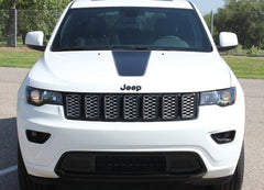 2011-2019 Jeep Grand Cherokee Hood Decal Pathway Center Blackout Vinyl Graphic Stripes