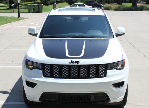 2011-2021 Jeep Grand Cherokee Trailhawk Hood Decal TRAIL Center Blackout Vinyl Graphic Stripes
