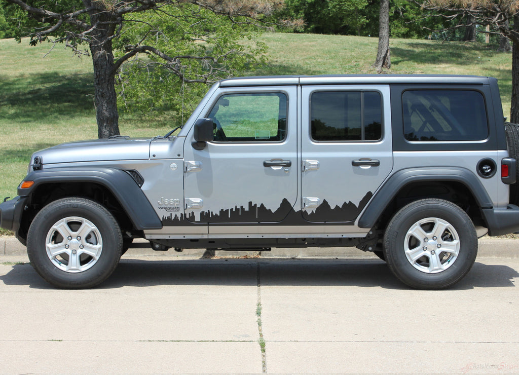 2018 2019 2020 Jeep Wrangler JL Scape Side Door Decals Vinyl Graphic Stripes Kit