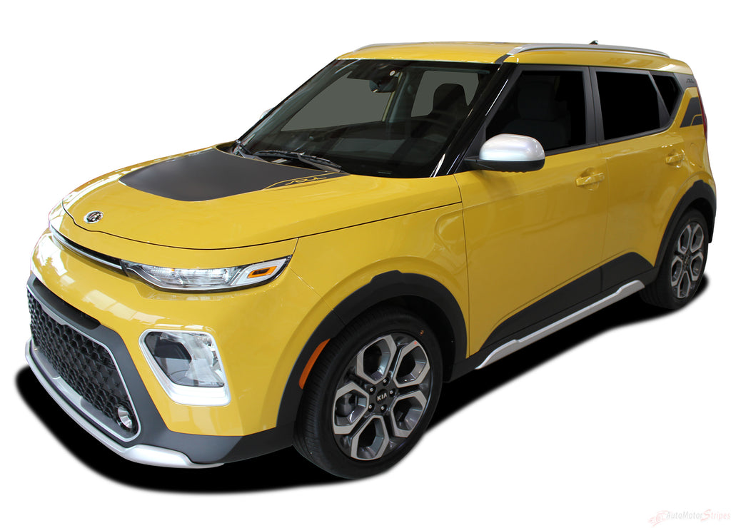 2020 Kia Soul Hood Decals and Rear Body Vinyl Graphic Stripes Kit
