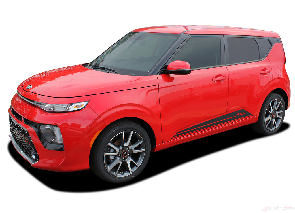 2020 Kia Soul Door Decals Souled Rockers Lower Body Stripes Panel Vinyl Graphic Kit