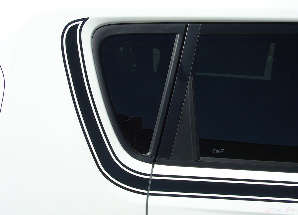 2010-2013 Kia Soul Soul Mate Upper Body Accent Side Stripes Vinyl Graphics