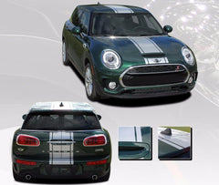 2016 2017 2018 2019 Mini Cooper Clubman S-Type Rally Hood Racing Stripes Vinyl Graphics 3M Decal Striping
