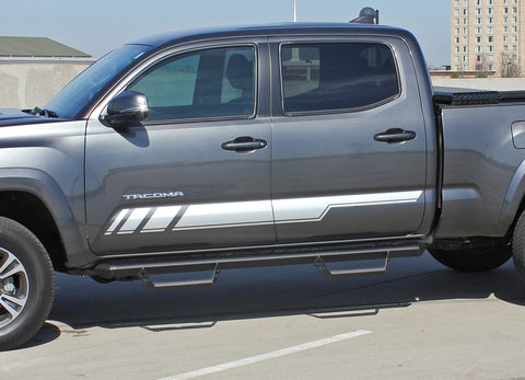 2015 2016 2017 Toyota Tacoma Core Lower Door Rocker Panel Accent Trim Decal 3M Vinyl Graphics Stripe Kit - Details