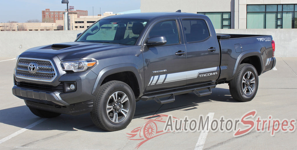 2015 2016 2017 Toyota Tacoma Core Lower Door Rocker Panel Accent Trim Decal 3M Vinyl Graphics Stripe Kit